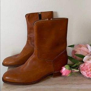 New vintage leather boots made in USA